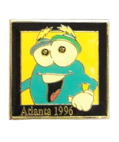 1996 Atlanta Olympics Smiley Izzy Pin