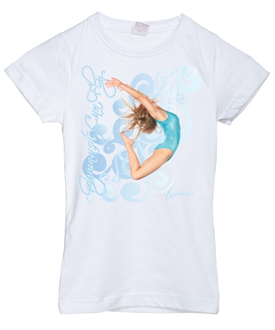 Gymnast Can Fly Girly Tee FREE SHIPPING