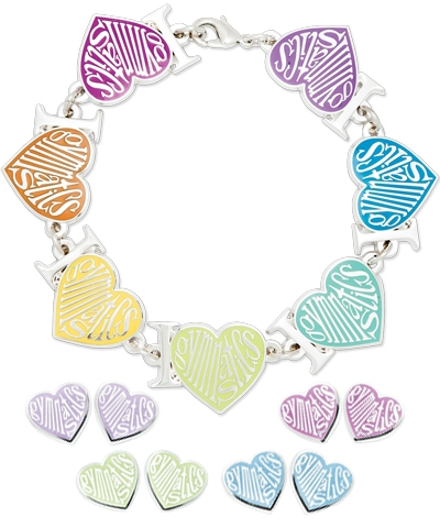 Pastel Love Gymnastics Bracelet & Earrings