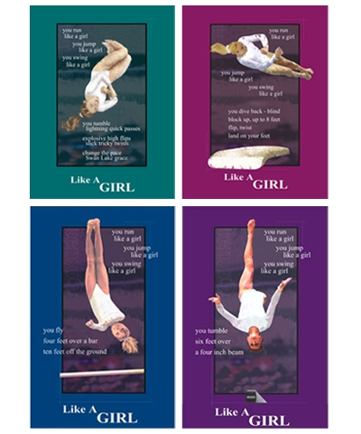 Set of 4 Like A Girl Posters FREE SHIPPING