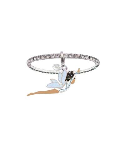 Dark-Skinned Pixie Gymnast Crystal Rhinestone Bracelet