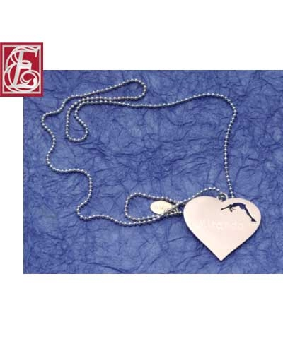 Engraved Cheer Heart Necklace