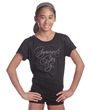 Rhinestone Gymnast Can Fly Burnout Tee