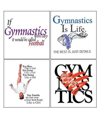 Set Of 4 Gymnastics Book Tees
