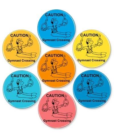 """Gymnast Crossing"" Gymnastics Designed Magnet"
