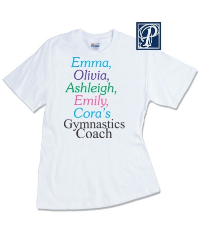 Personalized Team Name Coach Tee FREE SHIPPING