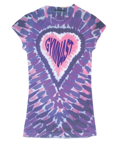 Purple Gymnast Dye Sub Girly Tee