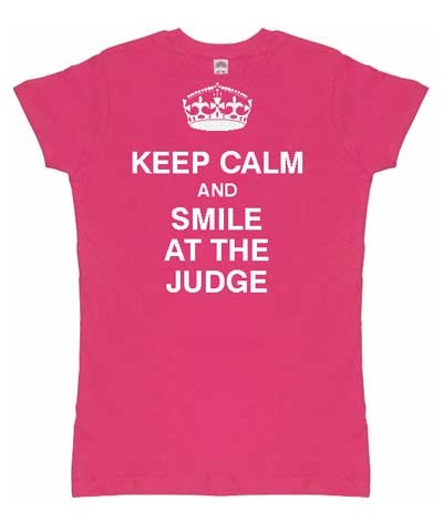 "Adult ""Keep Calm"" Girly Tee FREE SHIPPING"