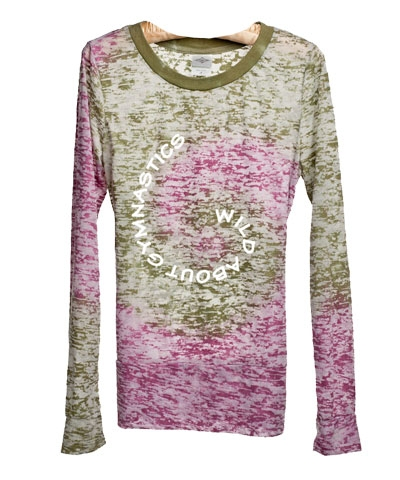 Basil & Mulberry Wild About Gymnastics Burnout Tee FREE SHIPPING