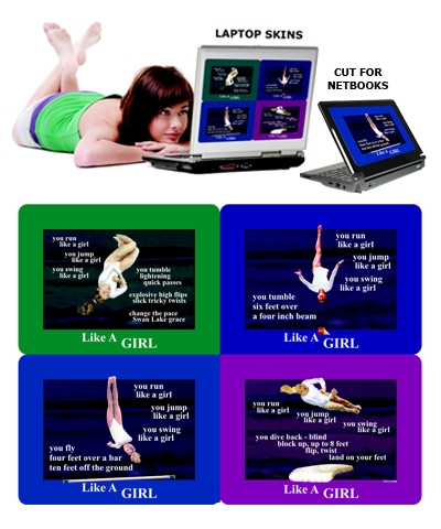 "8.8""x11.8"" Gymnastics Laptop Skins FREE SHIPPING"