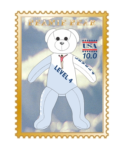 Level 4 Beamie Bear Pin