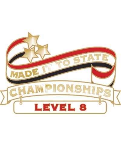 Level 8 Made It To State Pin