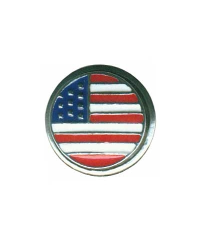 Snap Button Charm - USA Flag