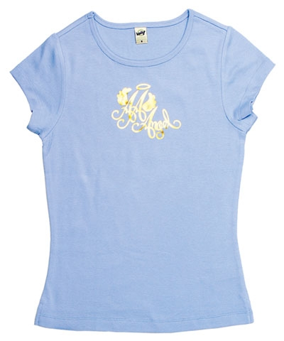 Ladies All-Around Angel Baby Doll Tee-Blue
