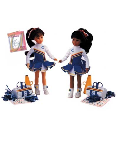 Cheerleader Cheer African American Doll