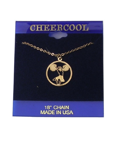 Cheerleader W/Poms Necklace