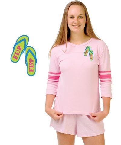 Pink Flip Flop Football Jersey