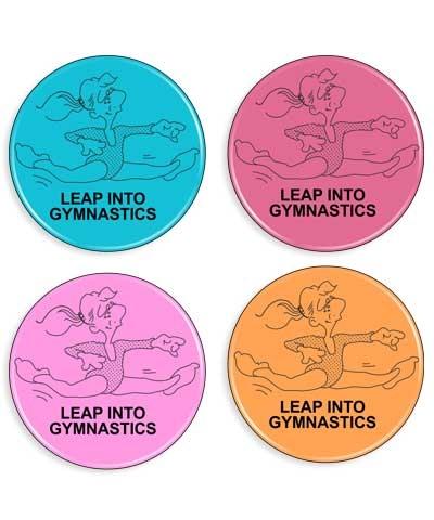 """""""Leap Into Gymnastics"""" Gymnastics Designed Magnet"""