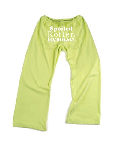 Green Spoiled Rotten Drawstring Pants