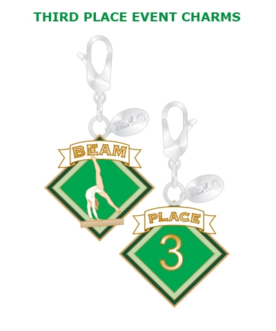 Gym Charm - 3rd Place Beam FREE SHIPPING