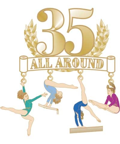 35 All Around Dangle Pin