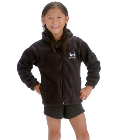 Got Chalk Black Fleece Jacket