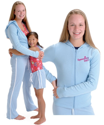 Gymnastics Girl Zippered Hoodie FREE SHIPPING