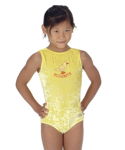 Personalized Yellow Duckie Panne Leo