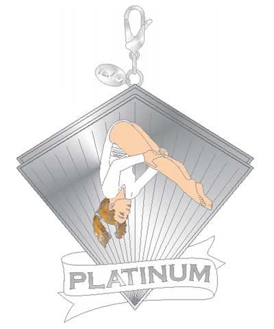 Xcel Platinum Pike Gym Charm FREE SHIPPING