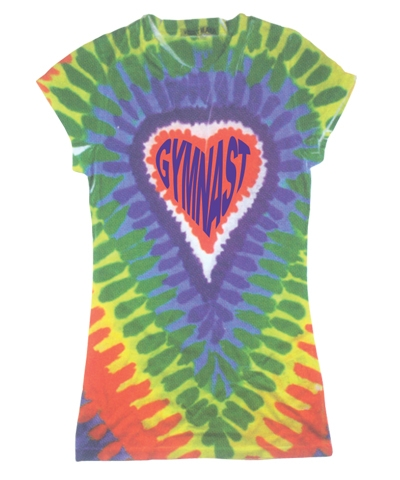 Rainbow Gymnast Dye Sub Girly Tee