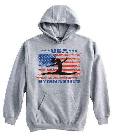 Ash USA Gymnastics Split Leap Hoody FREE SHIPPING