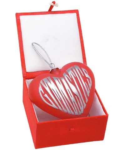 Red Heart Pewter Gym Ornament