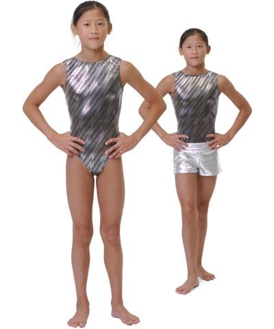 Silver Shimmer Lycra Leo