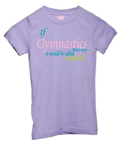 Lavender Gymnastics Football Girly Tee FREE SHIPPING