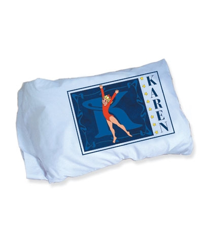 Personalized Gymnastics Pillow Case