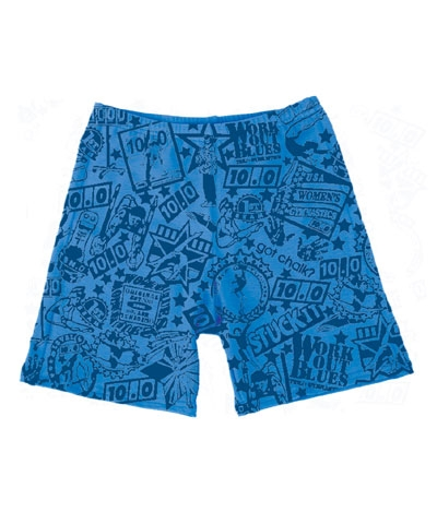 Stained Work Out Blues Workout Shorts FREE SHIPPING