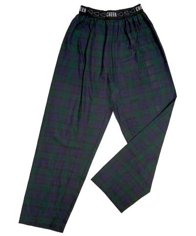 Adult Flannel Cheer Jammies-Blackwatch FREE SHIPPING