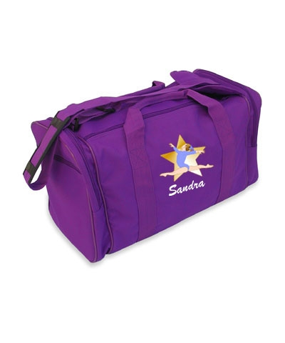 Personalized Split Leap Purple Gym Bag