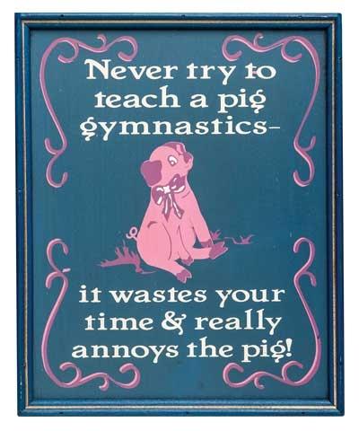 Piggy Lovers Plaque