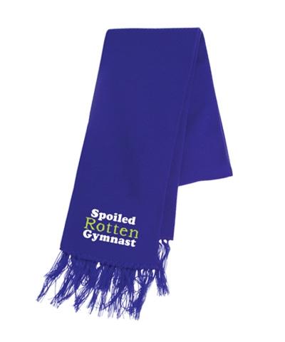 Spoiled Rotten Gymnast Purple Scarf