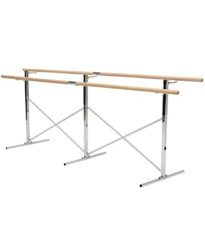 12 Ft Free Standing Ballet Barre 2 Bars