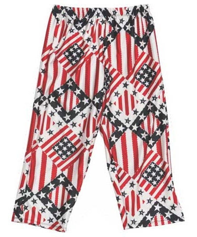Stars and Stripes Capri Leggings FREE SHIPPING