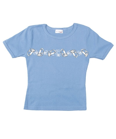 Ladies Get Grip Baby Doll Tee-Blue
