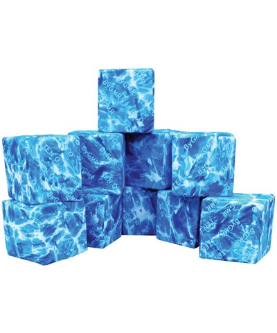"6"" Building Block Covered Cubes Set of 10"