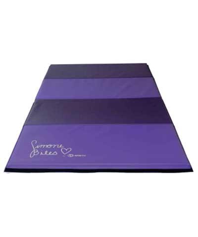 "Simone Biles 4'x8'x1-3/8"" Two Tone Purple Tumbling Mat"