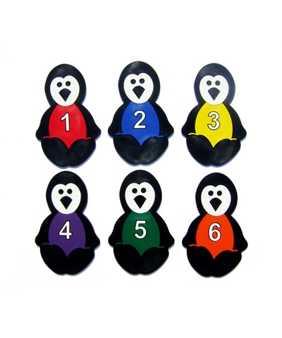Poly Pad Numbered Penguins (Set of 6) FREE SHIPPING