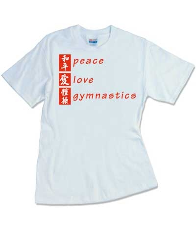 White Peace Love Gym Tee