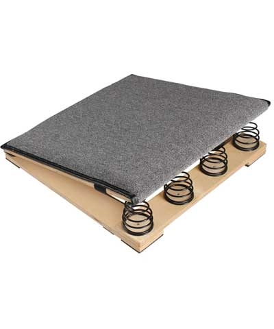 "4"" Spring Carpeted Mini Preschool Vault Board"