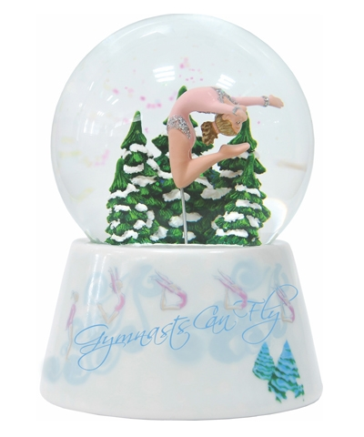 "Gymnast Can Fly Snow Globe Music Box ""Seconds"""