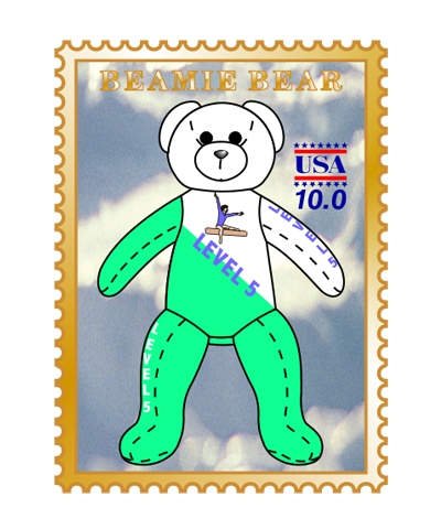 Level 5 Beamie Bear Pin